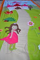 BQ Princesse applique blanket